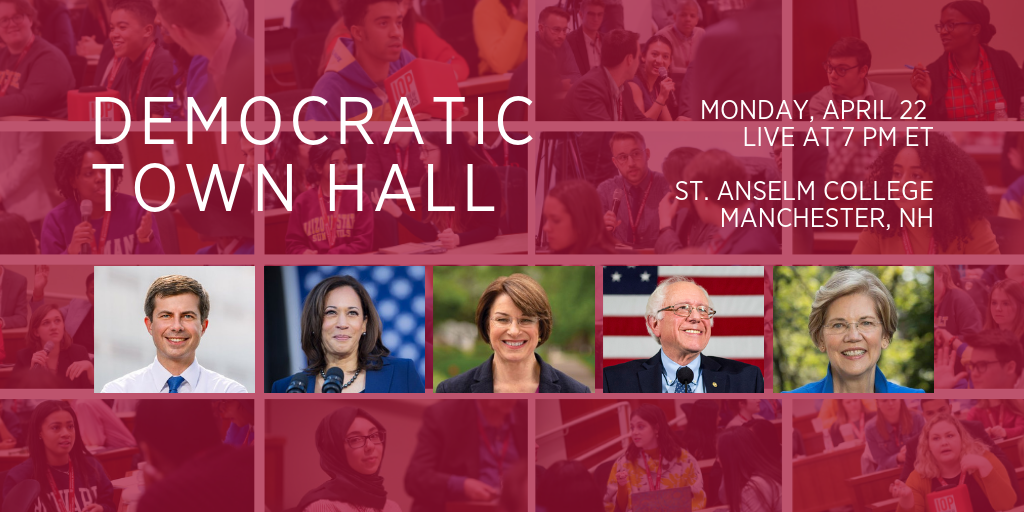 INSTITUTE OF POLITICS TO CO-HOST CNN TOWN HALL FEATURING FIVE DEMOCRATIC PRESIDENTIAL CANDIDATES.