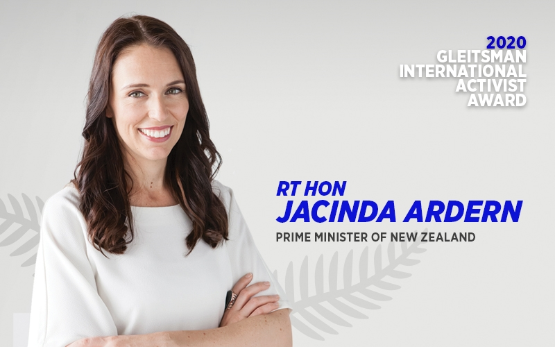 headshot of New Zealand prime minister Jacinda Ardern, winner of the 2020 Gleitsman International Activist Award