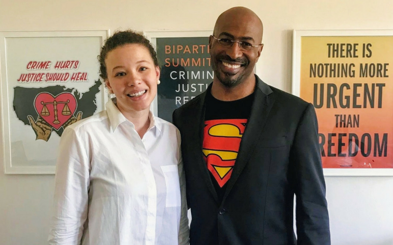 Bailey with Cut50 President and Co-Founder Van Jones