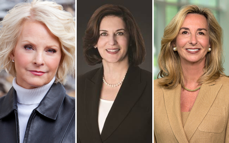 Cindy McCain, Victoria Kennedy, and Kerry Healey